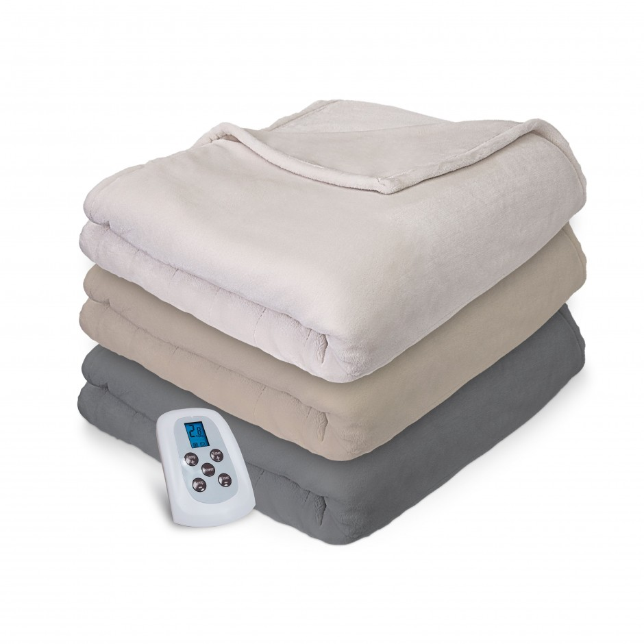 Auto Heated Blanket | Heated Microplush Throw | Biddeford Electric Blanket