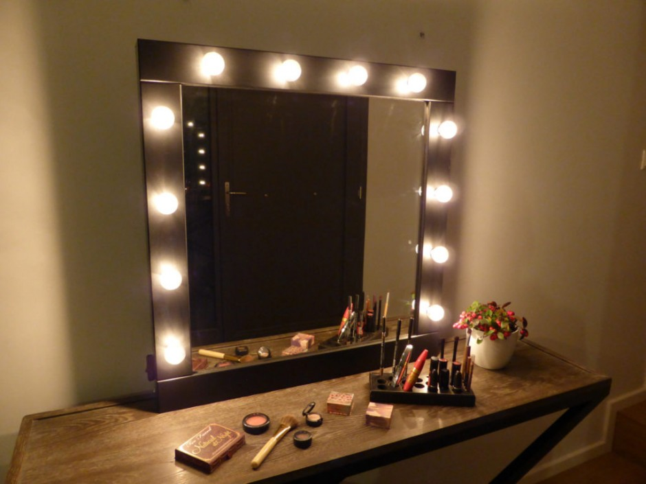 Bedroom Makeup Vanity With Lights | Makeup Vanity Table With Lighted Mirror | Wall Mounted Makeup Mirror