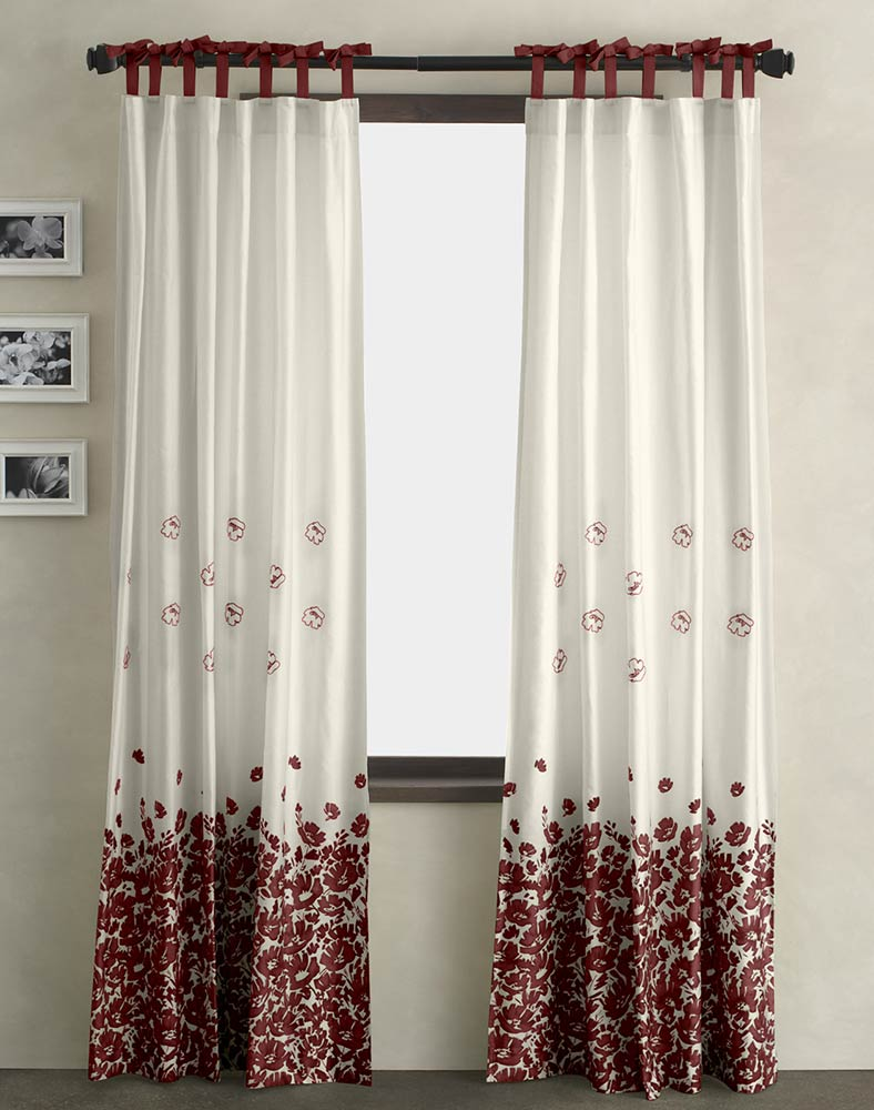 Black and White Kitchen Curtains | Kohls Drapes | 95 Inch Curtains