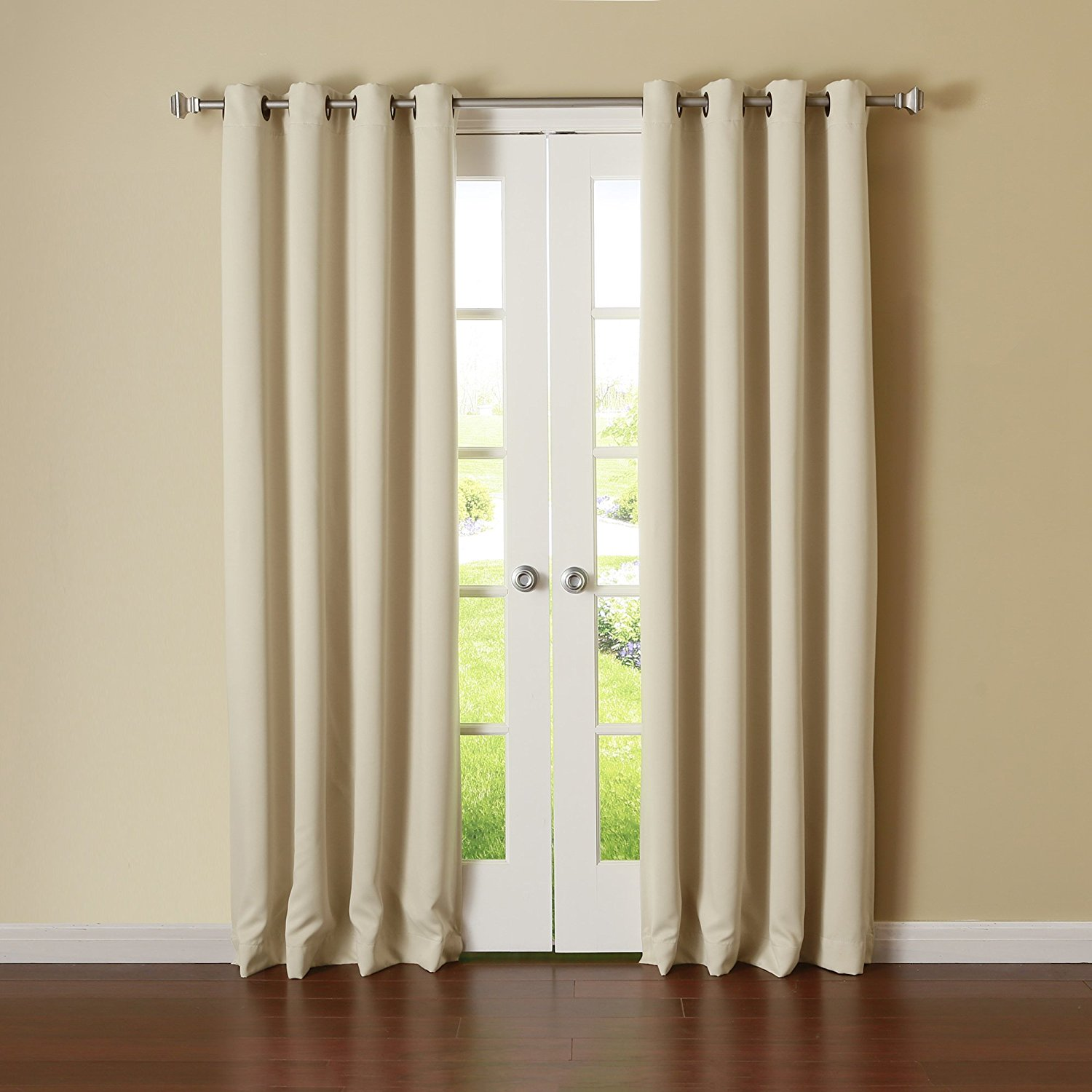 grommet ati sateen garden drapes overstock top home ironwork product with pair panel curtain woven blackout