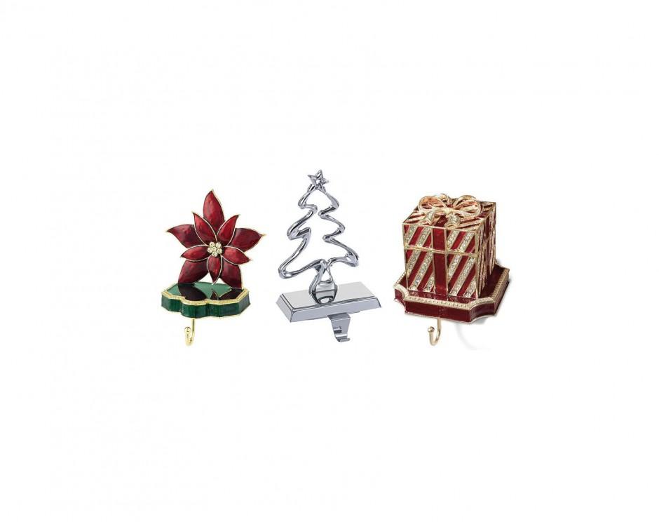 Brass Christmas Stocking Holders | Stocking Holders | Train Stocking Holders