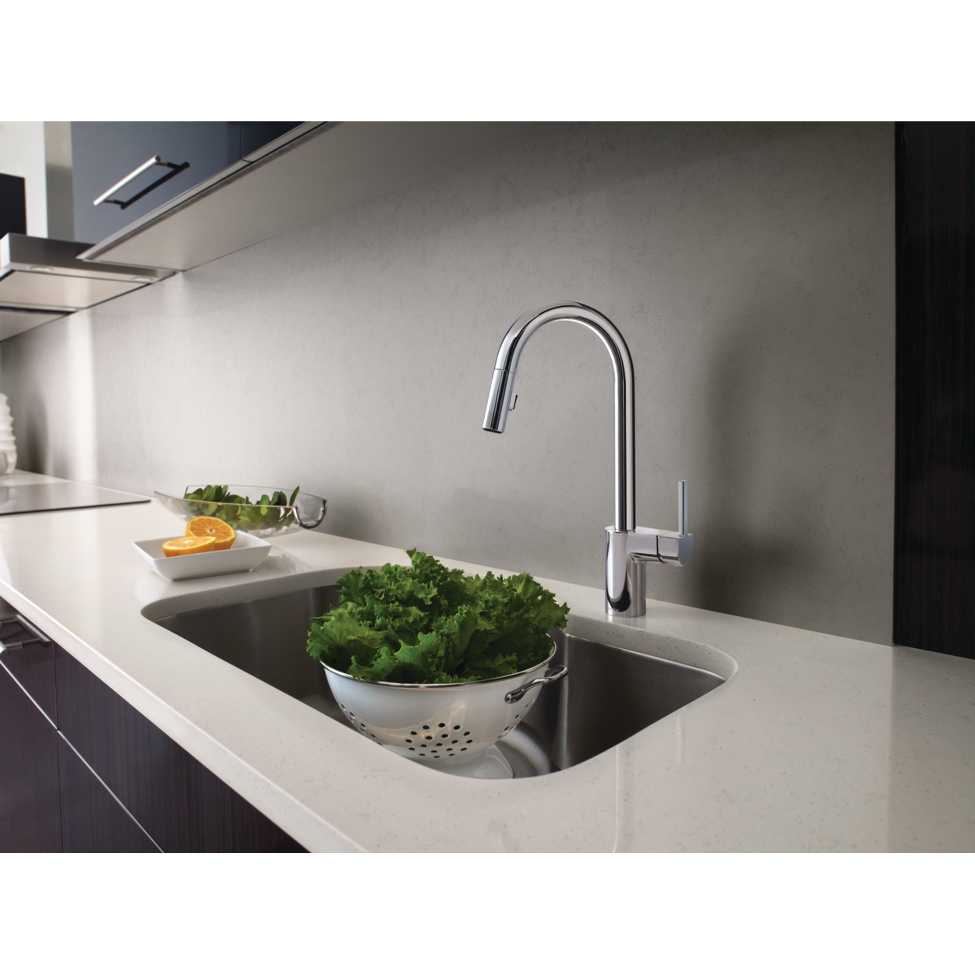 Brushed Nickel Kitchen Faucet | Kitchen Faucets At Lowes | Moen Faucet
