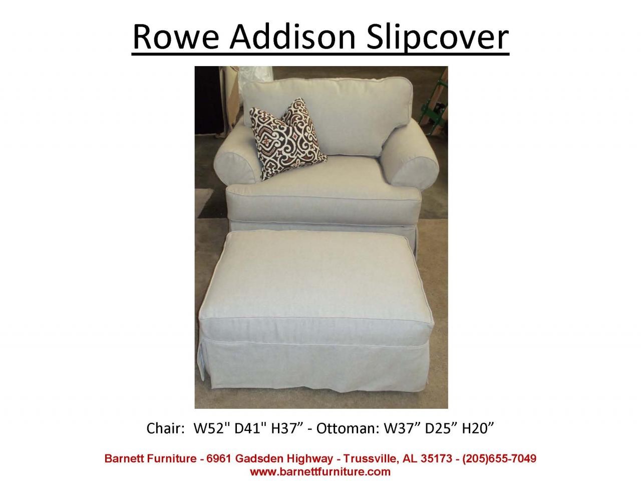 Camelback Sofa Slipcover | Washable Slipcovered Sofas | Rowe Furniture Slipcovers
