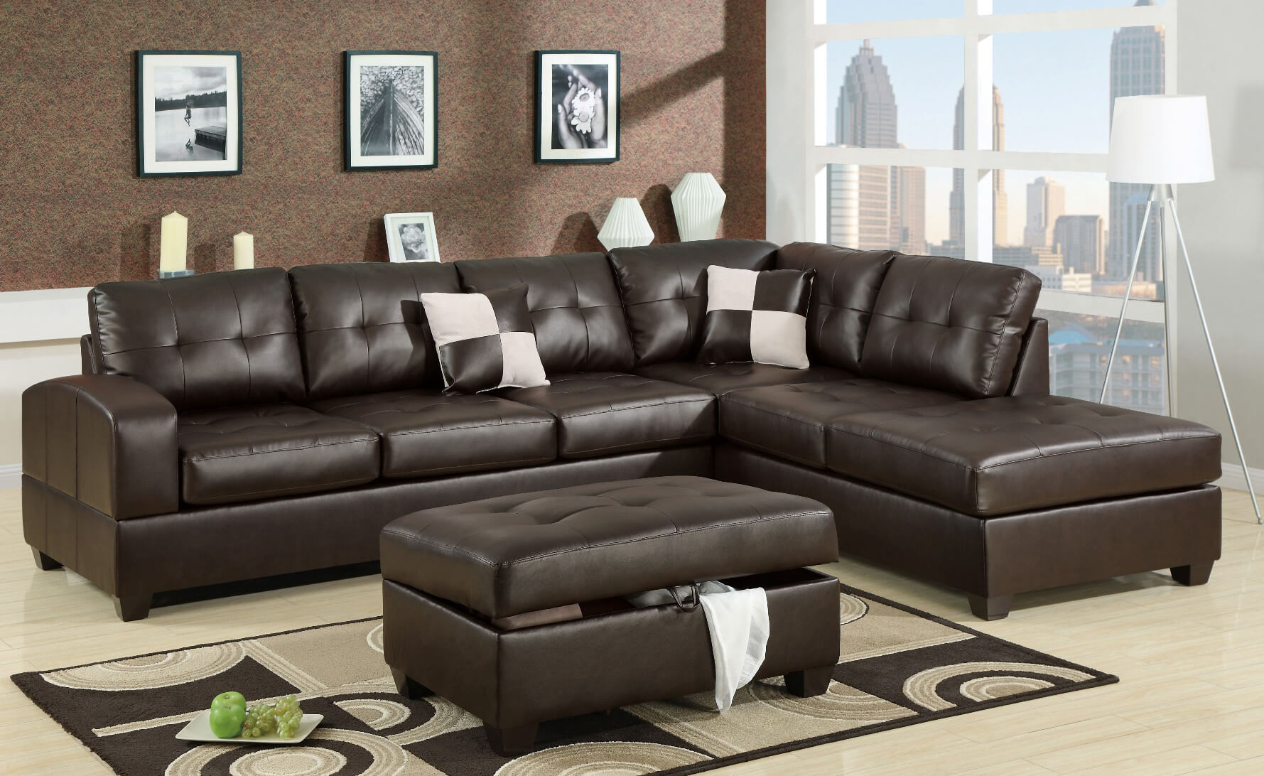 Cheap Sectional Couches | Leather Sectional Sofa | Bobs Furniture Living Room Sets : leather sectional discount - Sectionals, Sofas & Couches