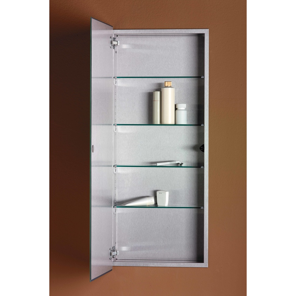 Chrome Medicine Cabinet | Jensen Medicine Cabinets | Medicine Cabinet with Mirror and Lights