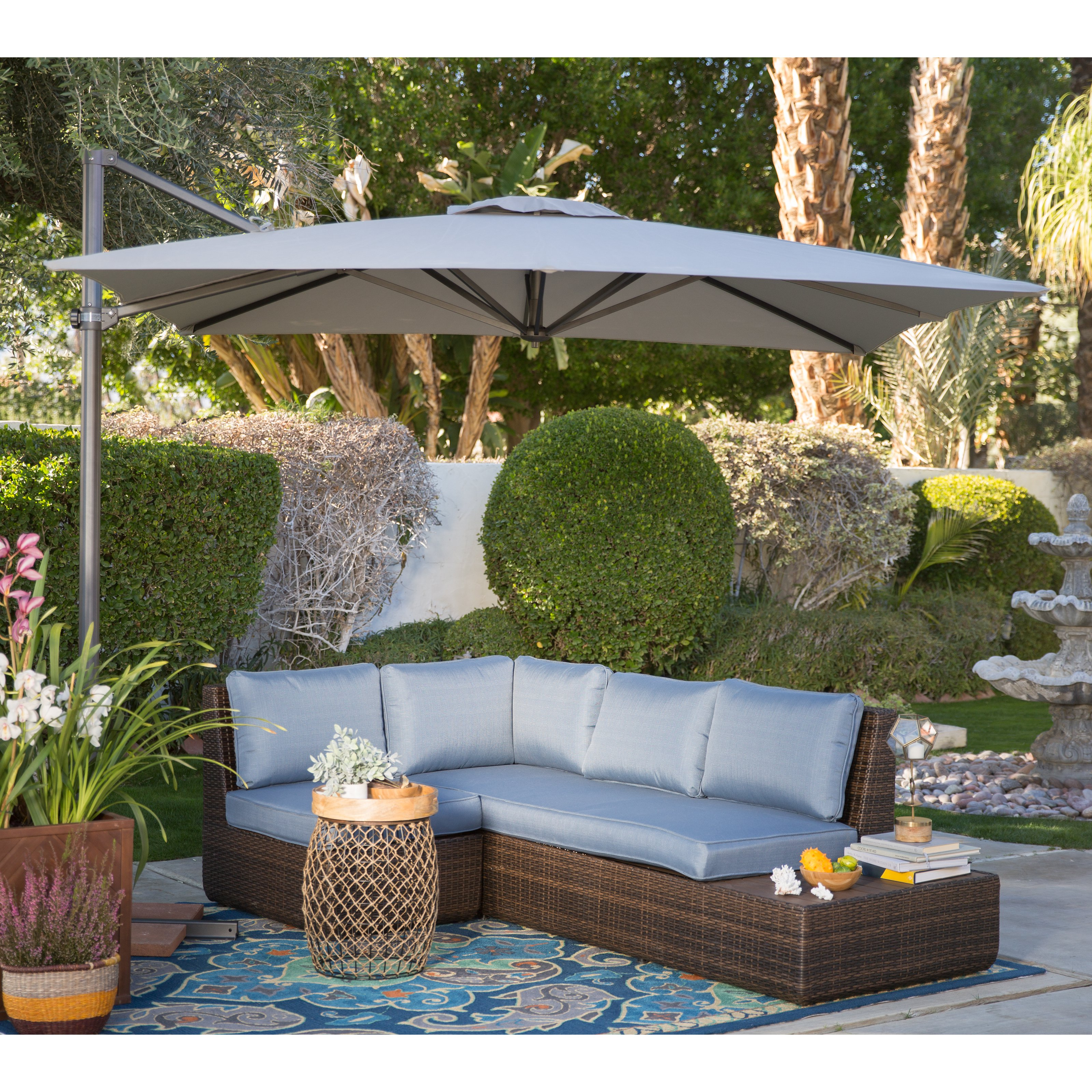 Garden Design fset Patio Umbrella With Base
