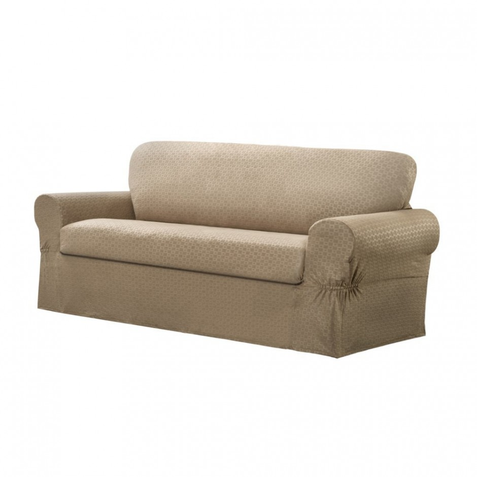Couch Covers For Leather Couch | Slipcovers For Sofas With Cushions Separate | Slipcover For Oversized Chair And Ottoman