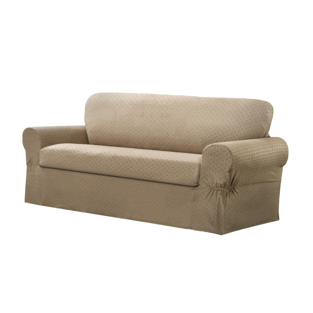 Couch Covers for Leather Couch   Slipcovers for Sofas with Cushions Separate   Slipcover for Oversized Chair and Ottoman