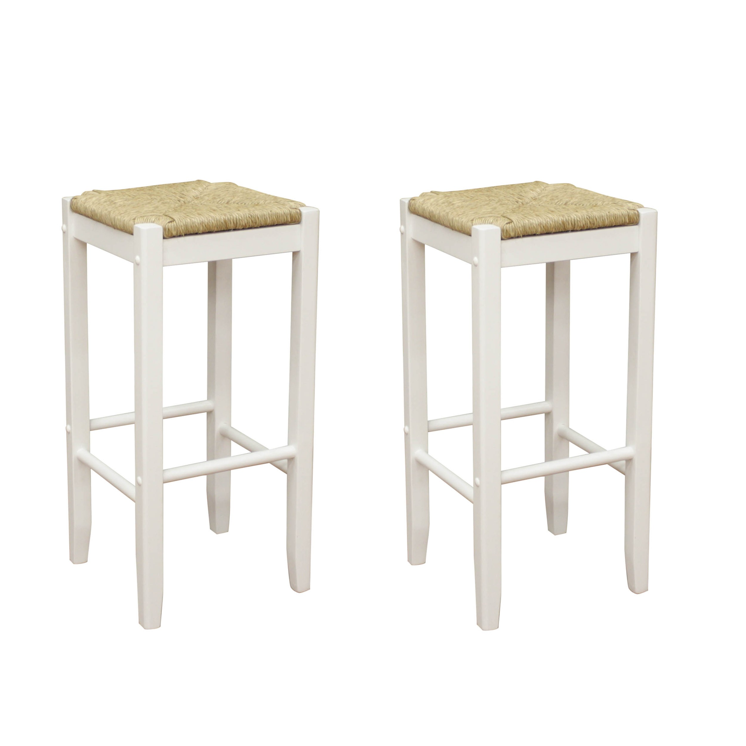 Counter Height Bar Stool | Seagrass Bar Stools | Counter Stools with Backs