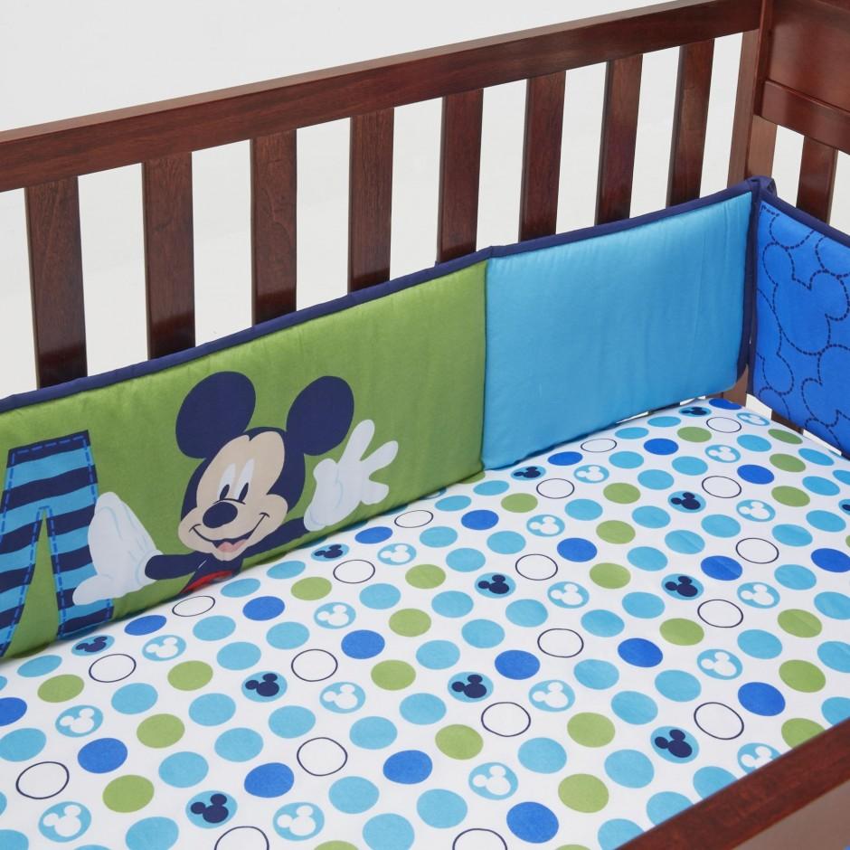 Crib Bumper Pads | Safe Crib Bumpers | Orange Crib Skirt