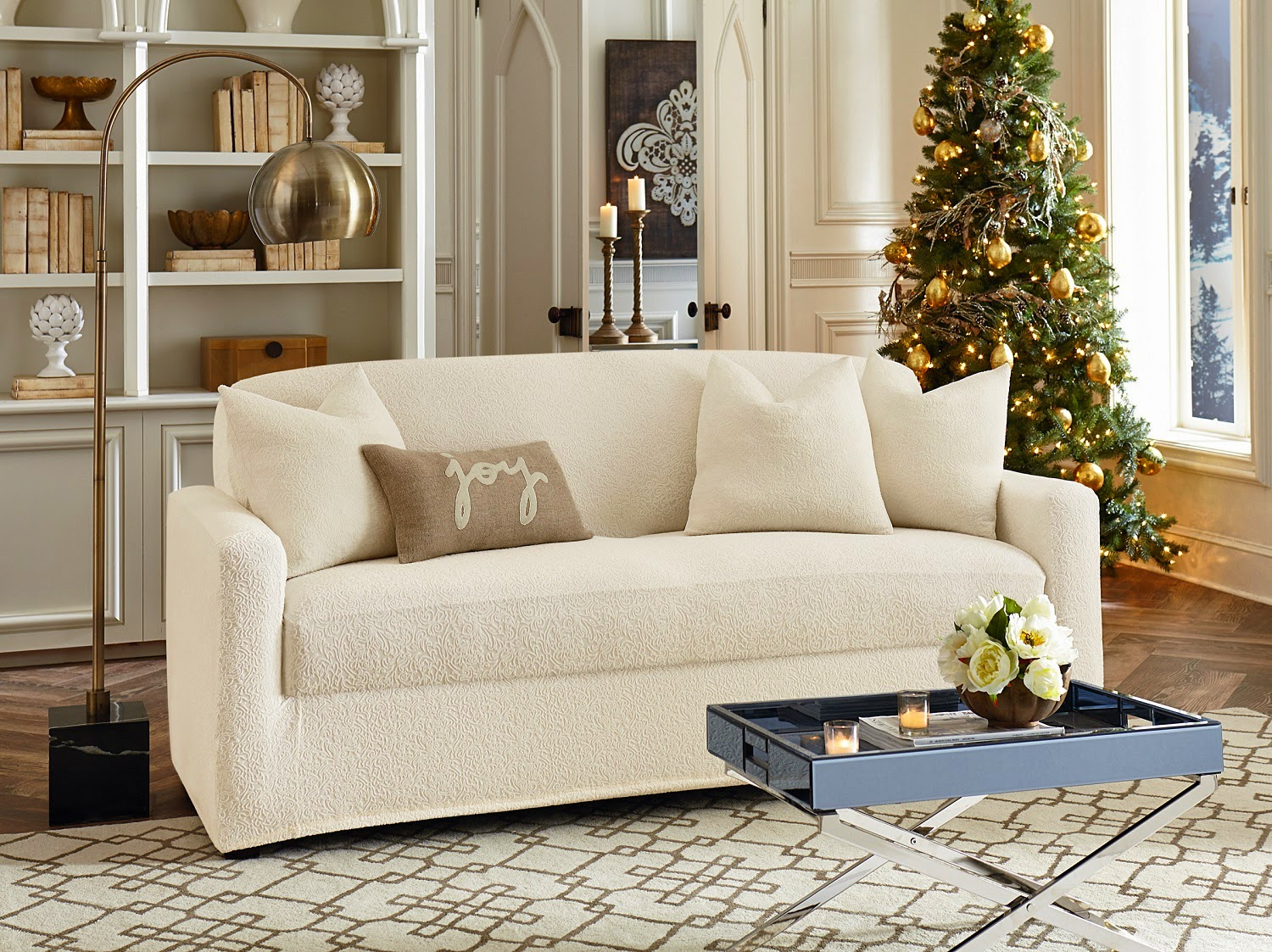 Cushion Slipcovers | Slipcovers for Sofas with Cushions Separate | Sofa Slipcover