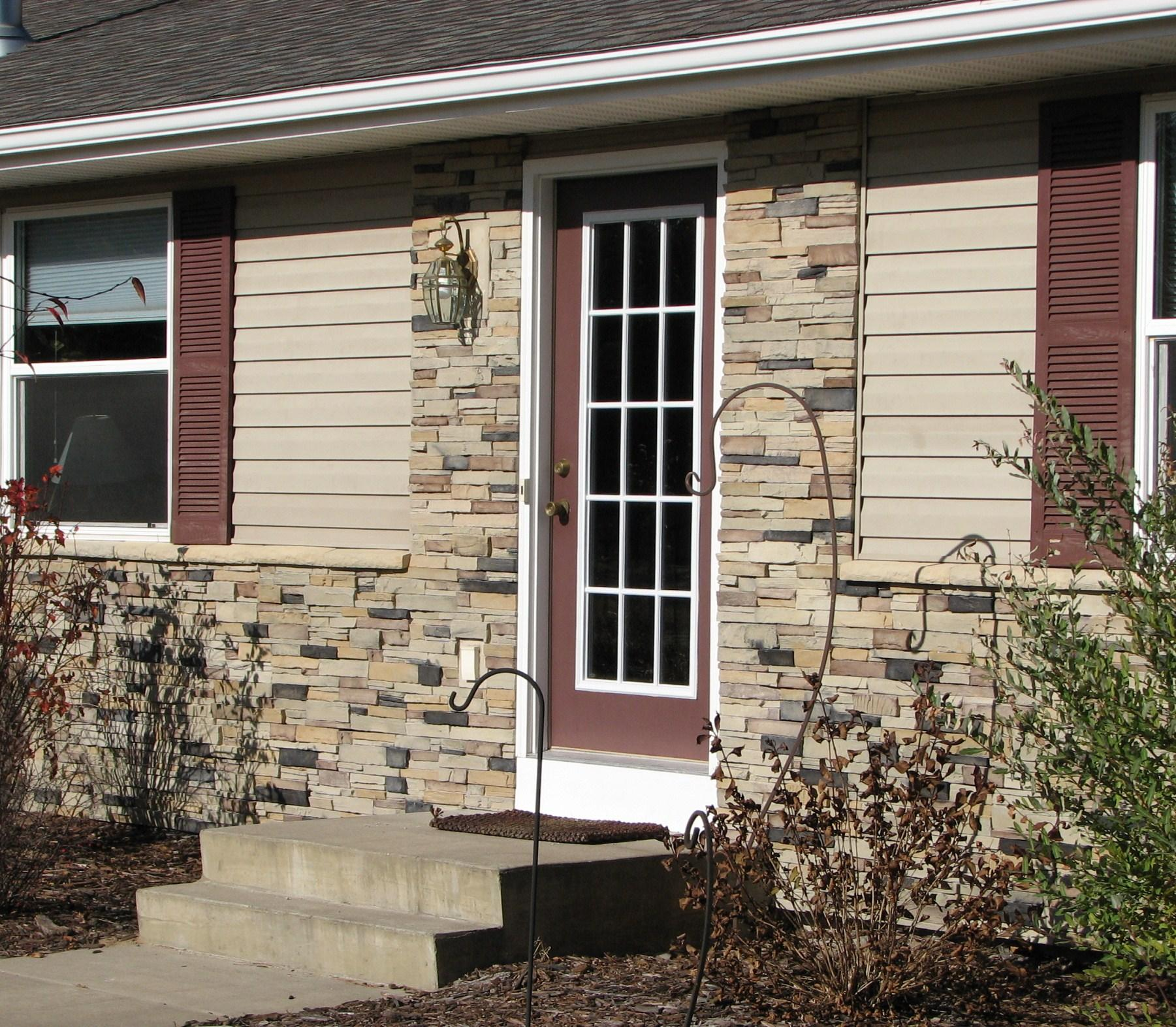 Rock Siding Ideas: Exterior: Amazing Fake Stone Siding For Home Interior And