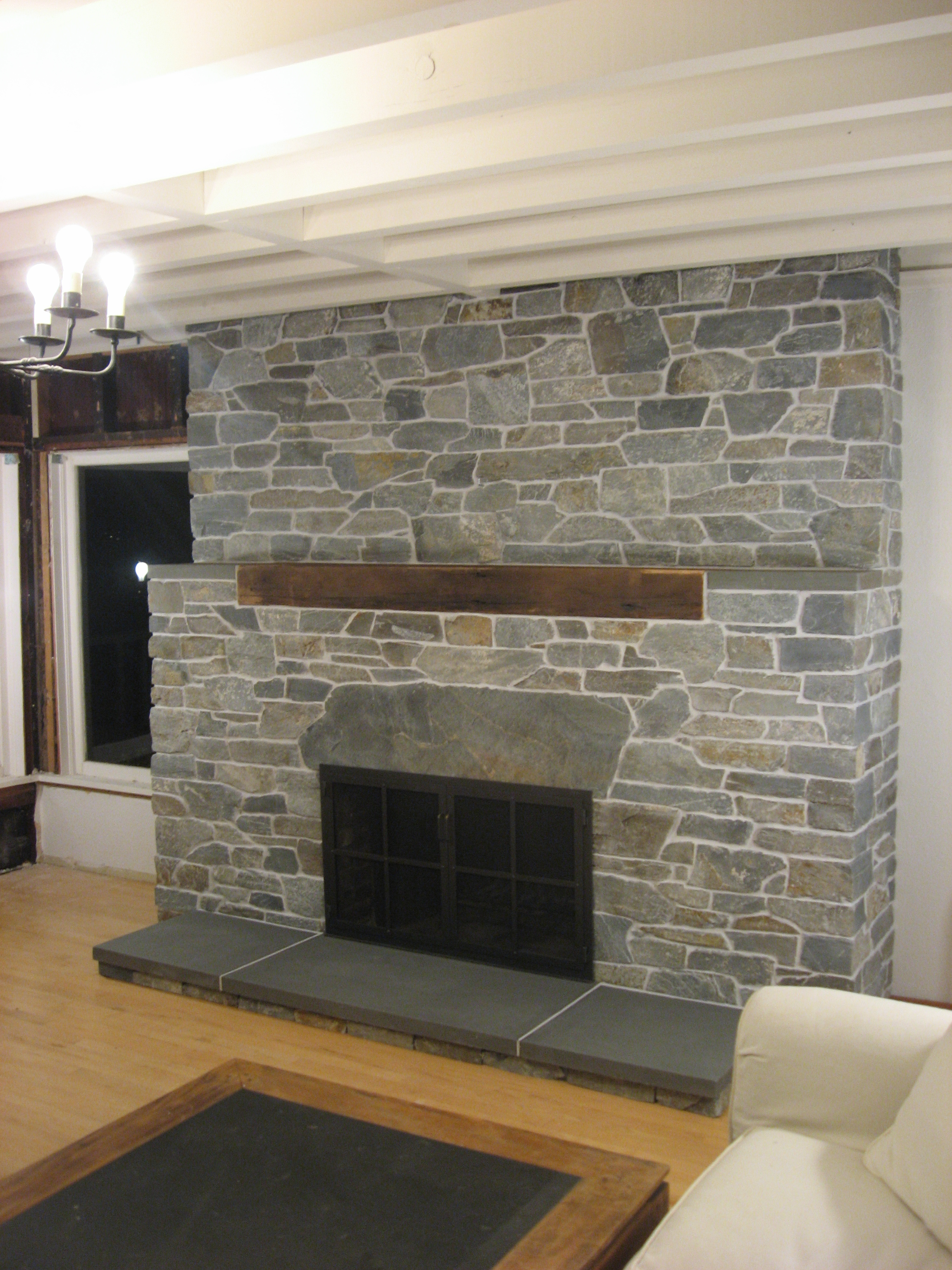 fake stone siding ledgestone veneer natural stone veneer - How To Stone Veneer Fireplace