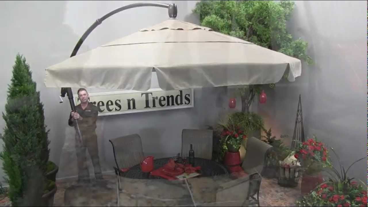 Garden Treasures Offset Umbrella | Lowes Umbrellas | World Market Patio Umbrella