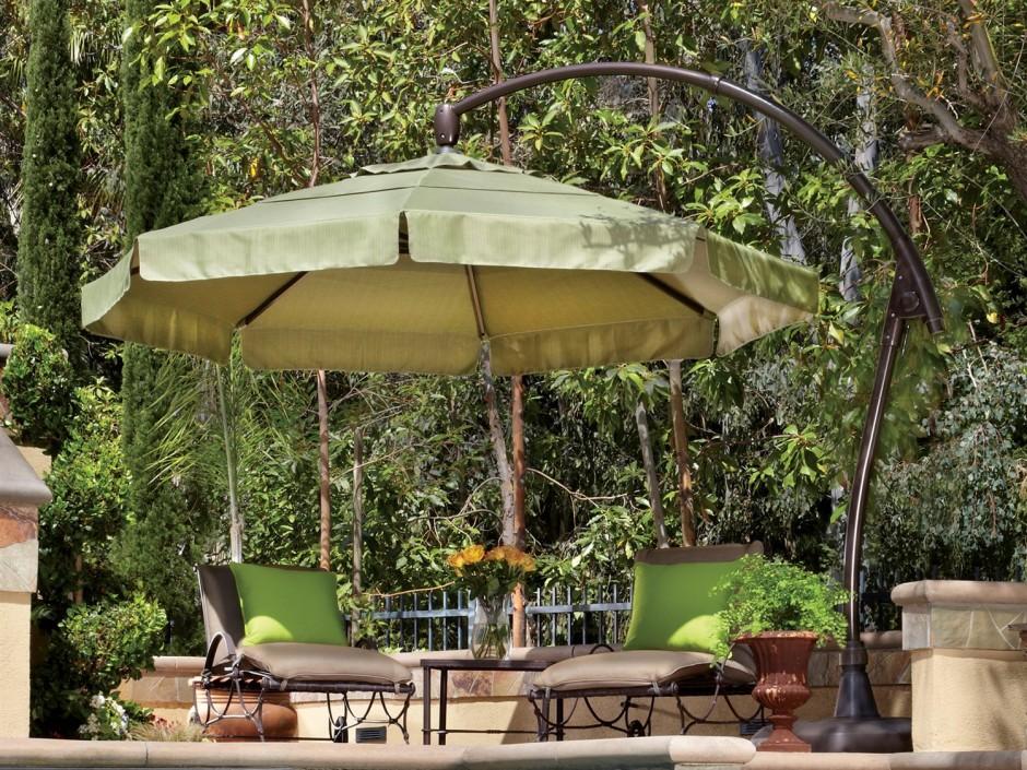 Garden Treasures Offset Umbrella | Patio Umbrella Replacement Canopy | Large Outdoor Umbrella