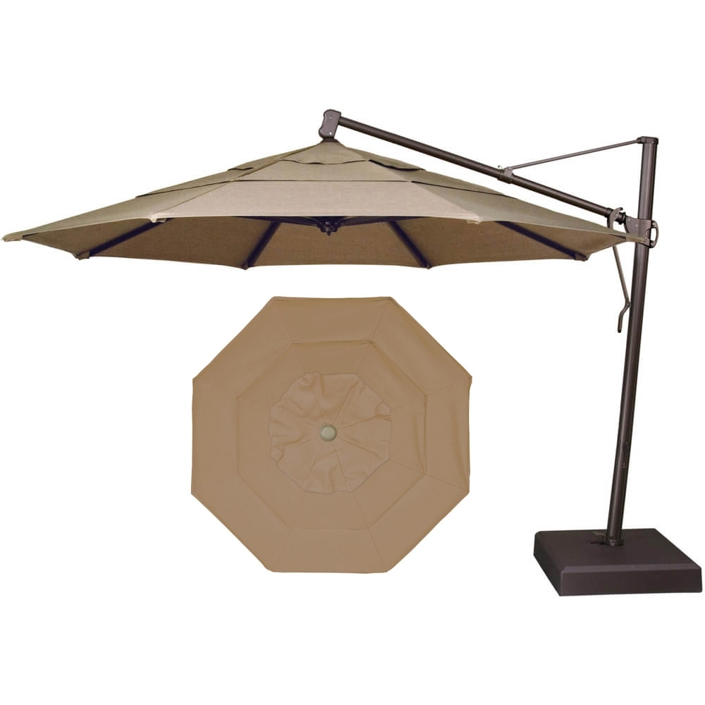 Garden Treasures Offset Umbrella | Picnic Table Umbrella Walmart | Free Standing Umbrellas for Patio