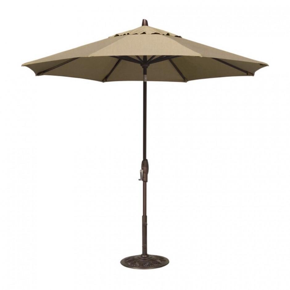 Garden Treasures Offset Umbrella   Umbrellas At Lowes   Lighted Umbrella For Patio
