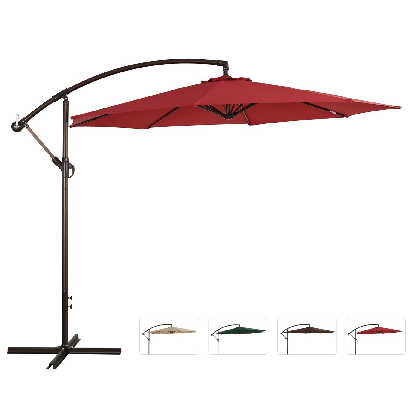 Garden Treasures Pergola Canopy | Garden Treasures Offset Umbrella | Lowes Patio Umbrellas