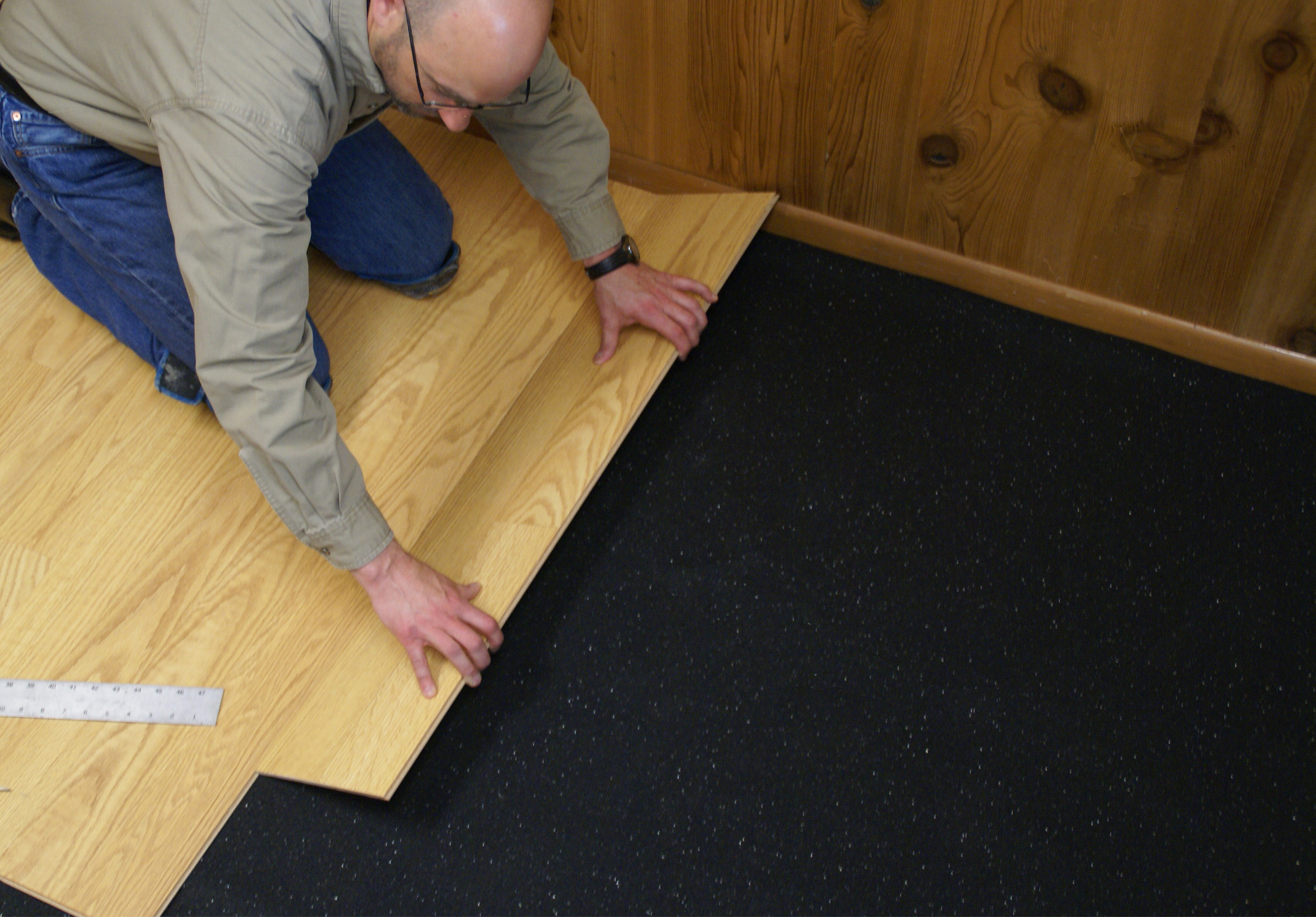 Hardwood Flooring Underlayment | Wood Floor Glue with Moisture Barrier | Cork Underlayment