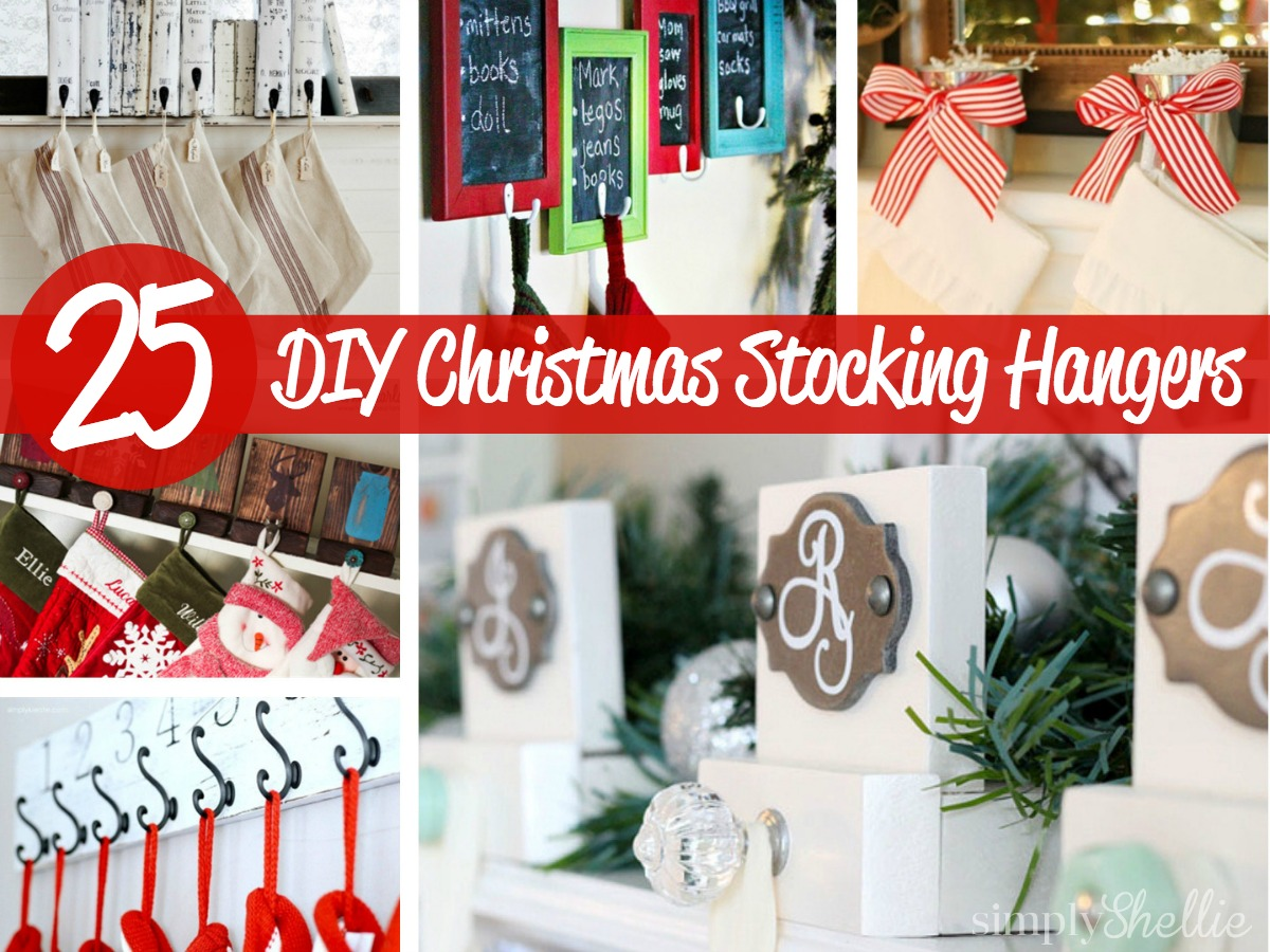 Initial Christmas Stockings | Christmas Stocking Holders for Fireplace | Stocking Holders