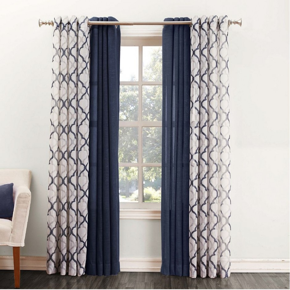 Kohls Drapes | Draperies And Curtains | Navy Chevron Curtains