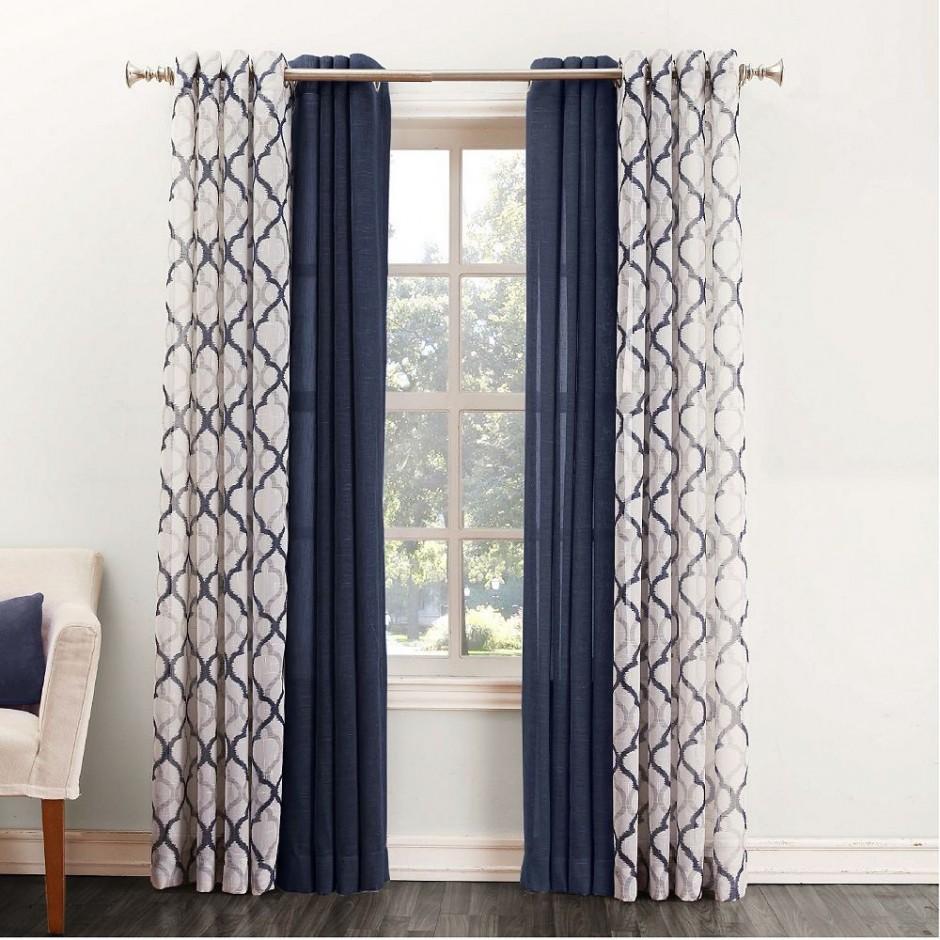 Kohls Drapes | Draperies And Curtains | Navy Chevron Curtains