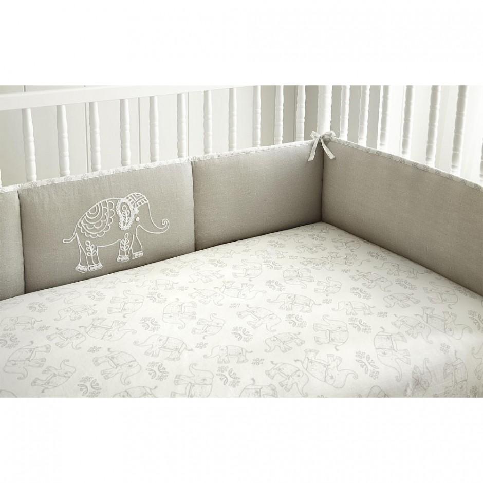 Lavender Crib Bumper | Crib Bumper Pads | Baby Crib Bumpers