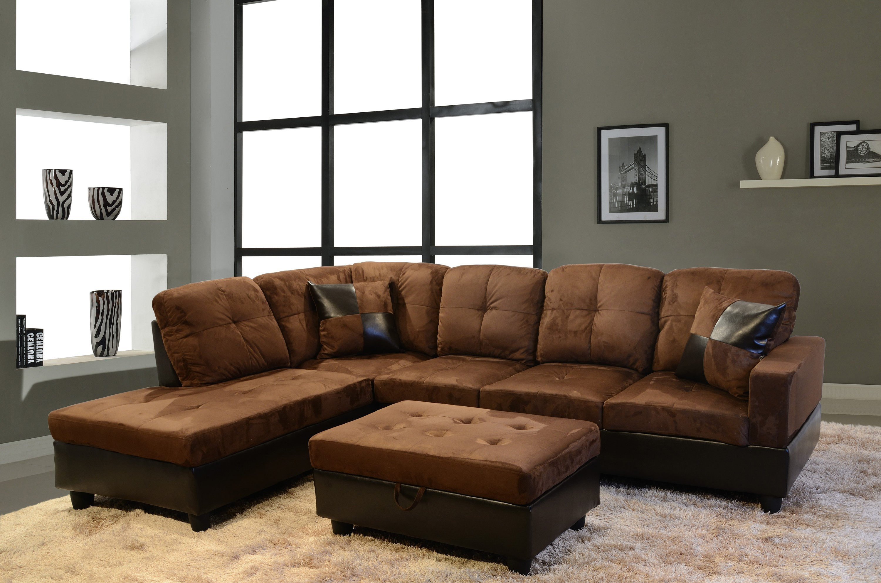 Leather Sectional Sleeper Sofa Hover To Zoom Leather Sleeper
