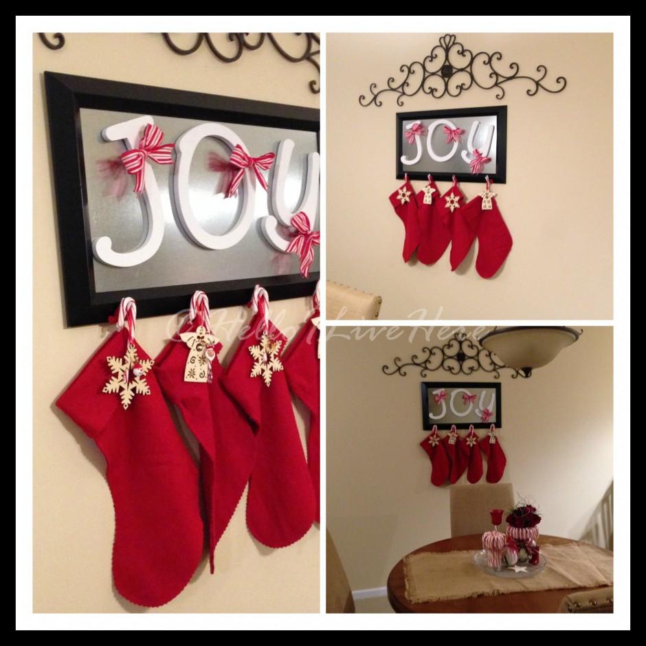 Leather Stock Shell Holder | Stocking Holders | Cheap Monogrammed Christmas Stockings