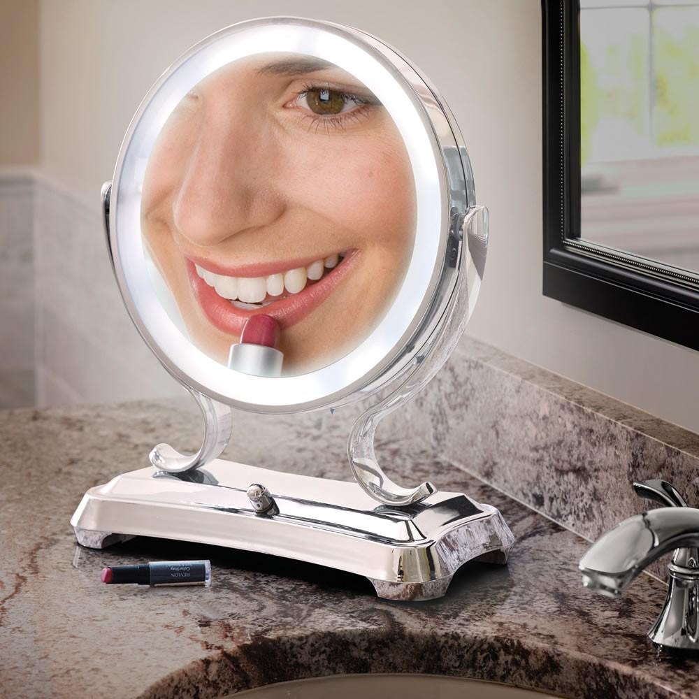 Lighted Makeup Vanity Table | Makeup Vanity Table with Lighted Mirror | Mirrored Makeup Vanity
