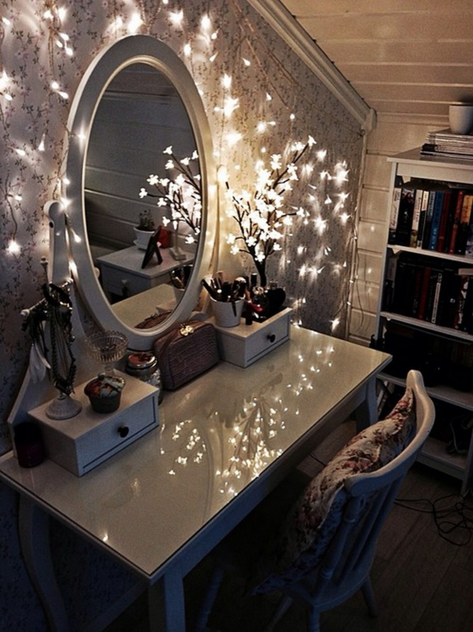 Lighted Mirror Vanity | Lighted Makeup Mirrors | Makeup Vanity Table With Lighted Mirror