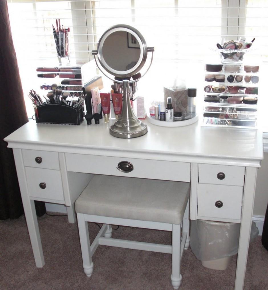 Lighted Mirror Vanity | Wayfair Vanity | Makeup Vanity Table With Lighted Mirror