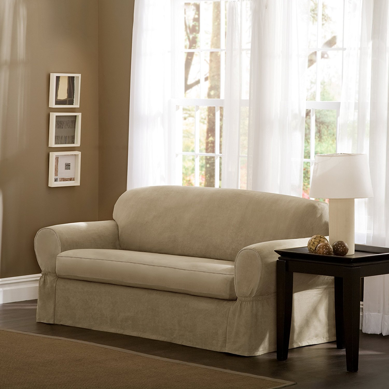 Linen Couch Slipcovers | Sofa Slip Covers | Slipcovers for Sofas with Cushions Separate