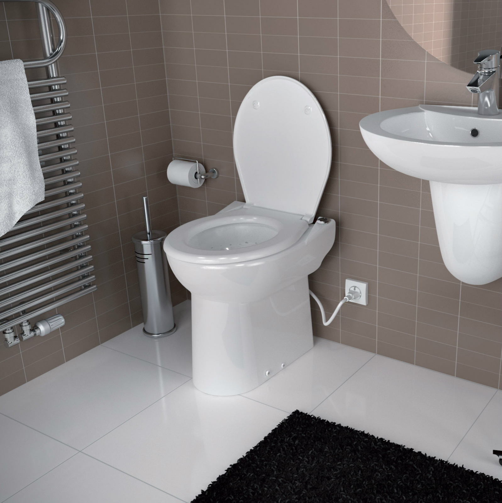 Macerator Toilet Wikipedia | Saniflo | Upflush Toilet