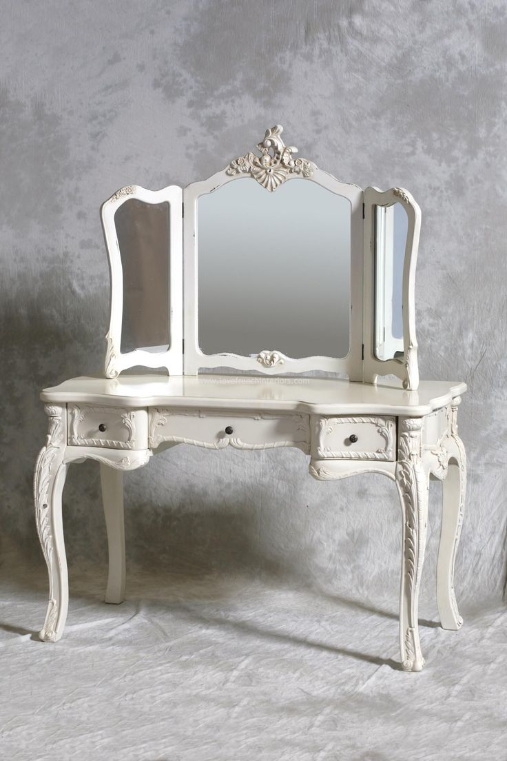 Furniture & Rug: Fancy Makeup Vanity Table With Lighted Mirror For ...