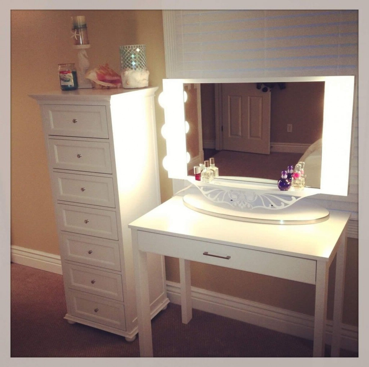 Makeup Vanity Set with Lights | Makeup Vanity Table with Lighted Mirror | Makeup Mirror with Lights Walmart