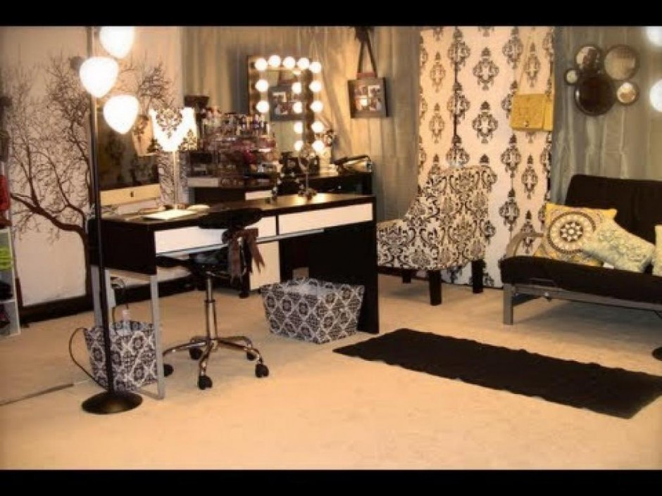 Makeup Vanity Table With Lighted Mirror | Diy Vanity Mirror | Ikea Makeup Table