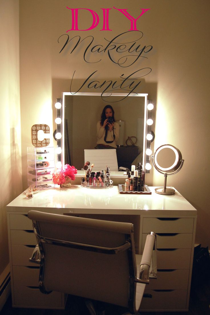 Makeup Vanity Table with Lighted Mirror | Light Bulbs for Vanity Mirror | Lighted Makeup Vanity Table