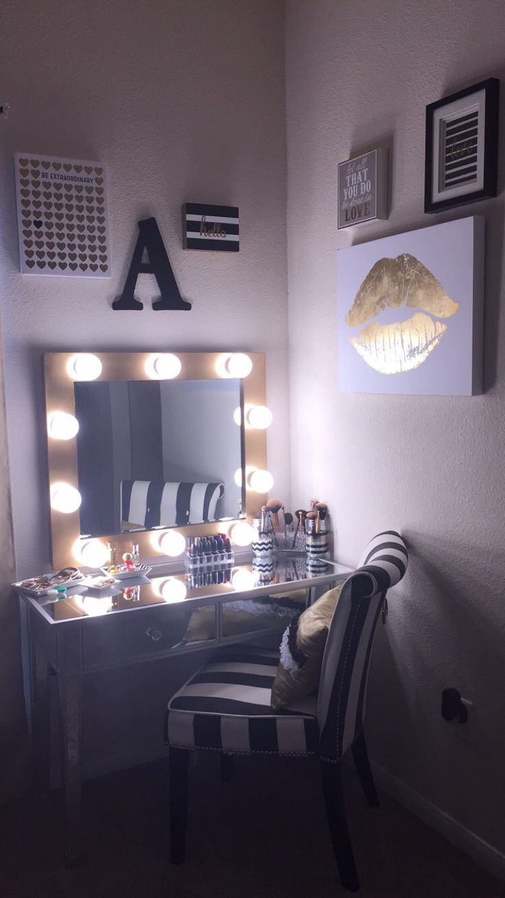 Makeup Vanity Table with Lighted Mirror | Light Bulbs for Vanity Mirror | Makeup Mirror with Lights Vanity Table