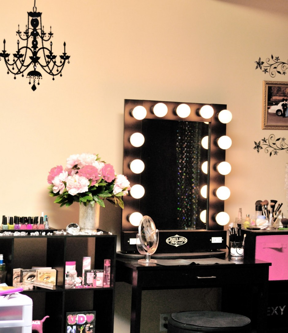 Makeup Vanity Table With Lighted Mirror | Makeup Vanity Ikea | Vanity Table With Lighted Mirror
