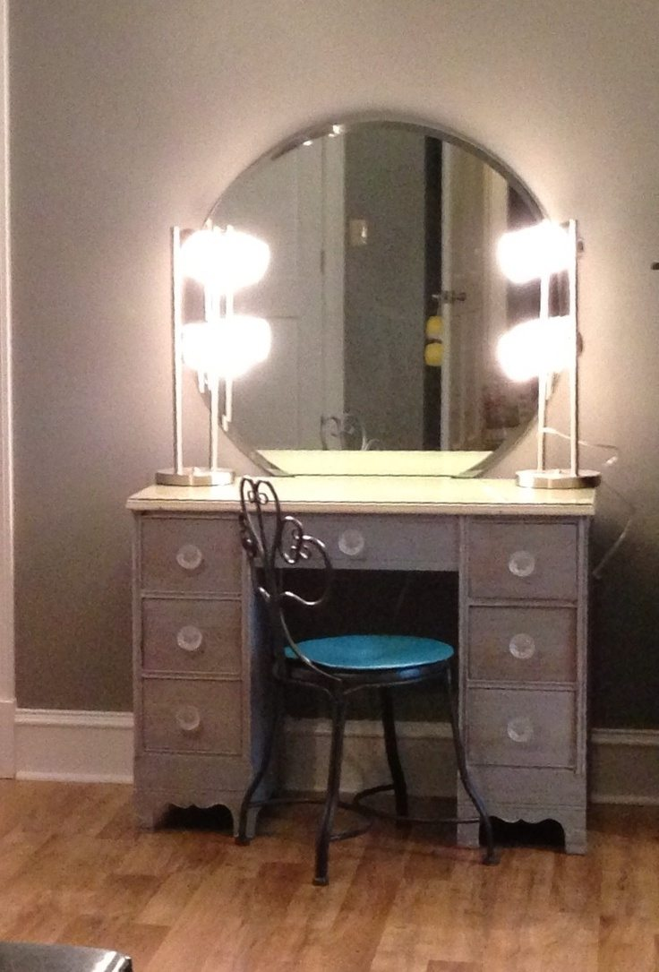 Mirror Vanity Set | Makeup Vanity Table With Lighted Mirror | Makeup Table Walmart