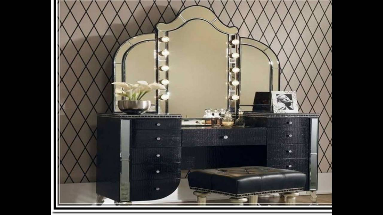 Mirrored Makeup Vanity | Makeup Vanity Table With Lighted Mirror | Vanity Dressing Table