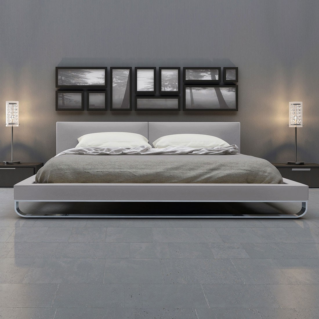 Modern Furniture Hallandale | Modloft | Modloft Thompson Platform Bed