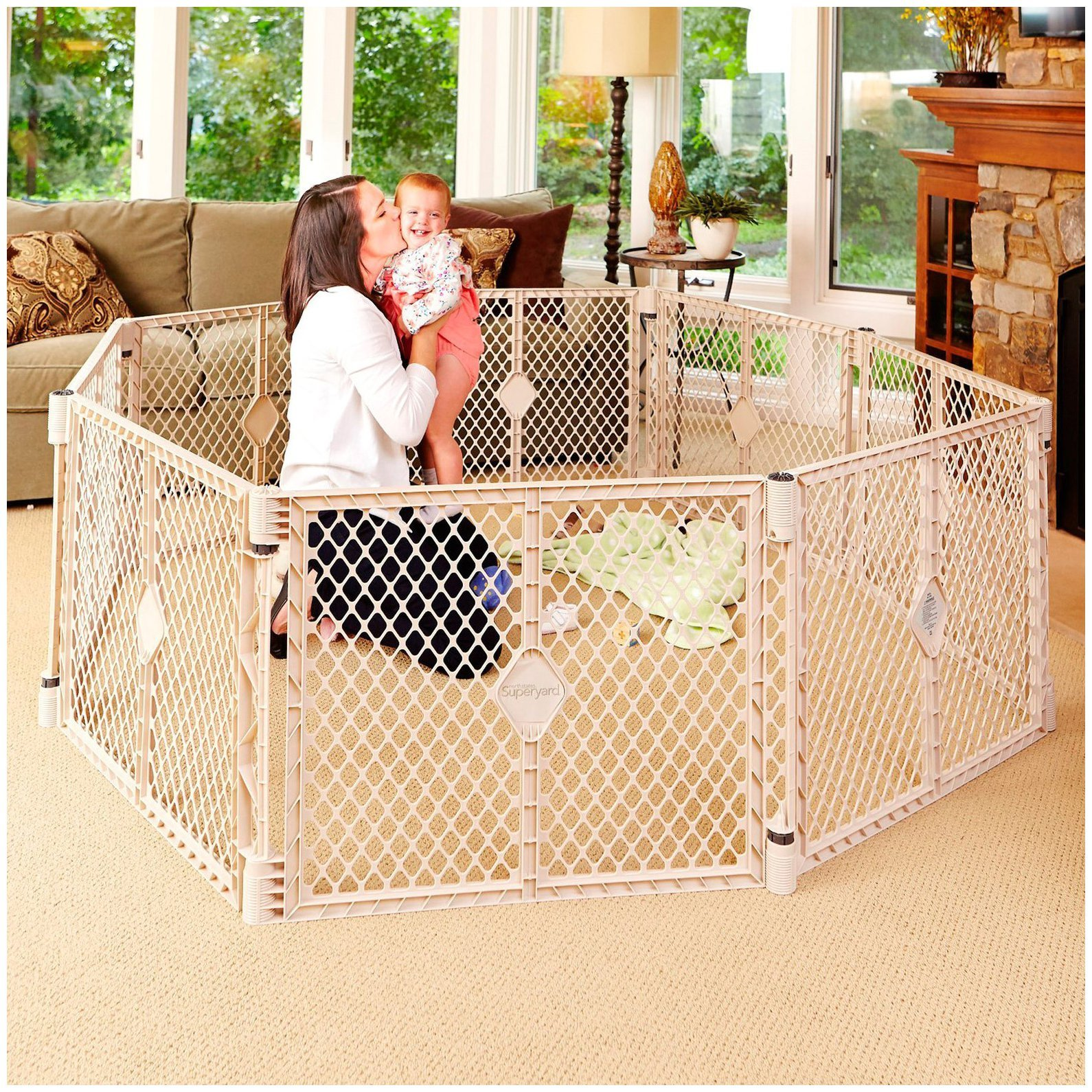 North States Industries Superyard Xt Gate | North States Superyard | Kids Playpen Walmart