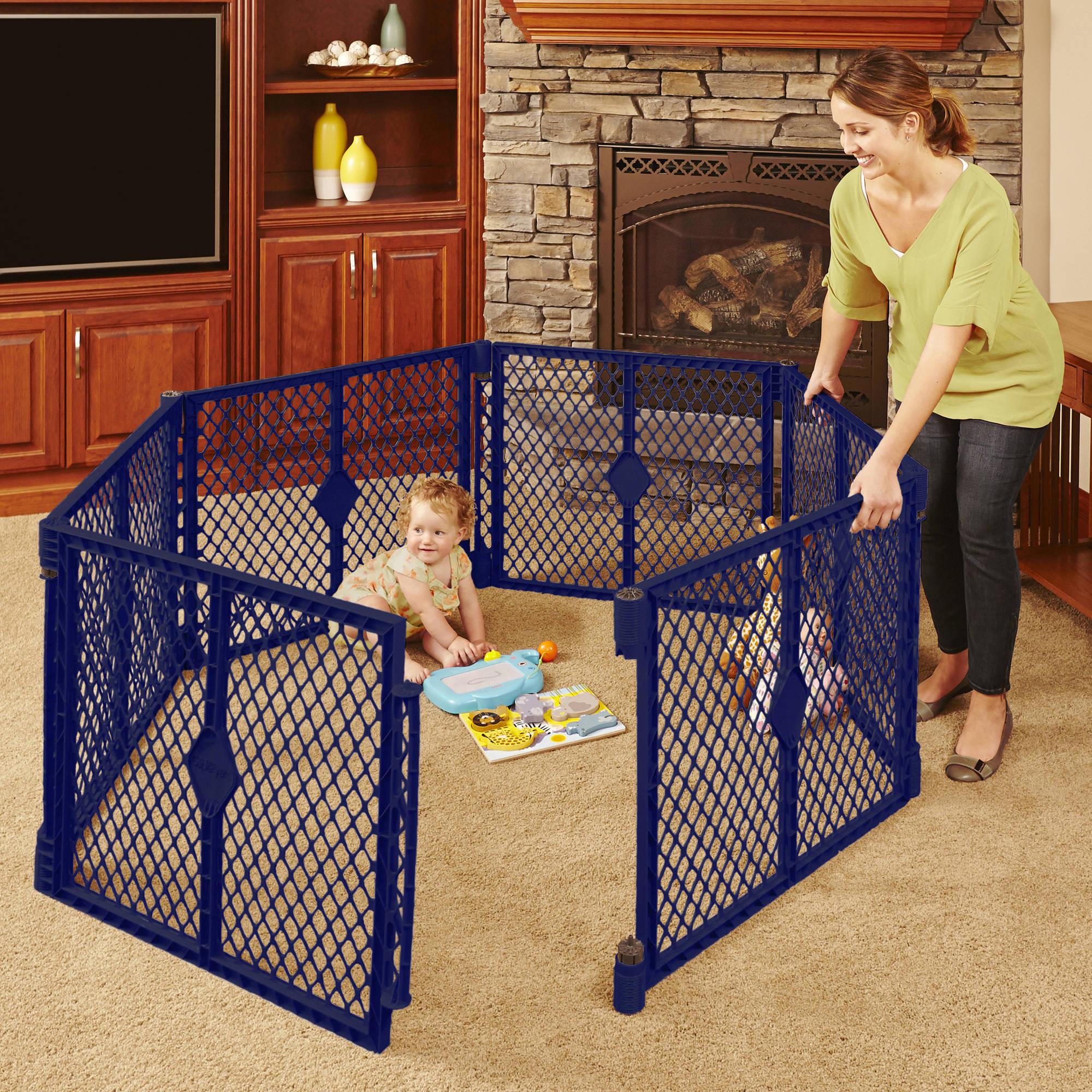 North States Superyard | Playard Walmart | Play Yard Gate 8 Panels
