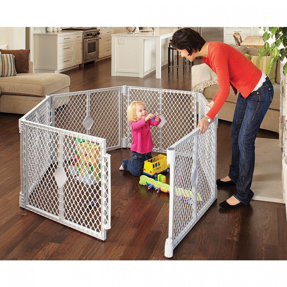 Northstar Gate | North States Superyard | 6 Sided Baby Gate