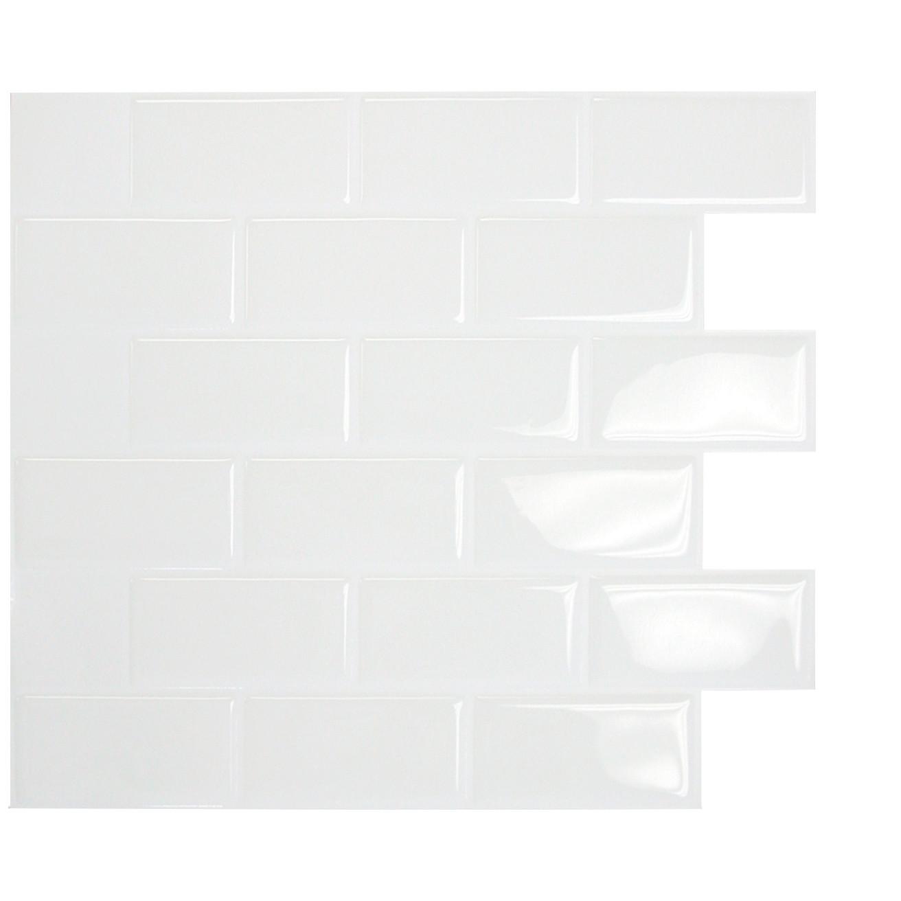 Peel and Stick Glass Tile Backsplash | Peel and Stick Vinyl Tile Flooring | Peel and Stick Tile