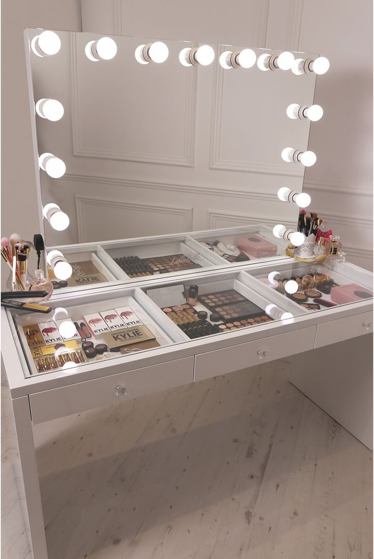 Professional Makeup Mirror With Lights | Makeup Vanity Table With Lighted Mirror | Makeup Mirrors With Lights