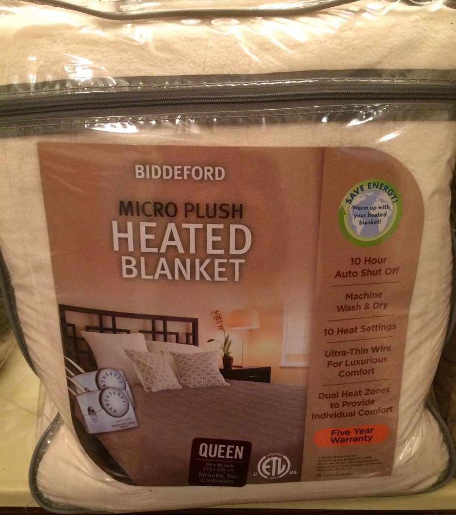 Queen Size Electric Blanket Single Control | Biddeford Electric Blanket | Heated Blanket Reviews