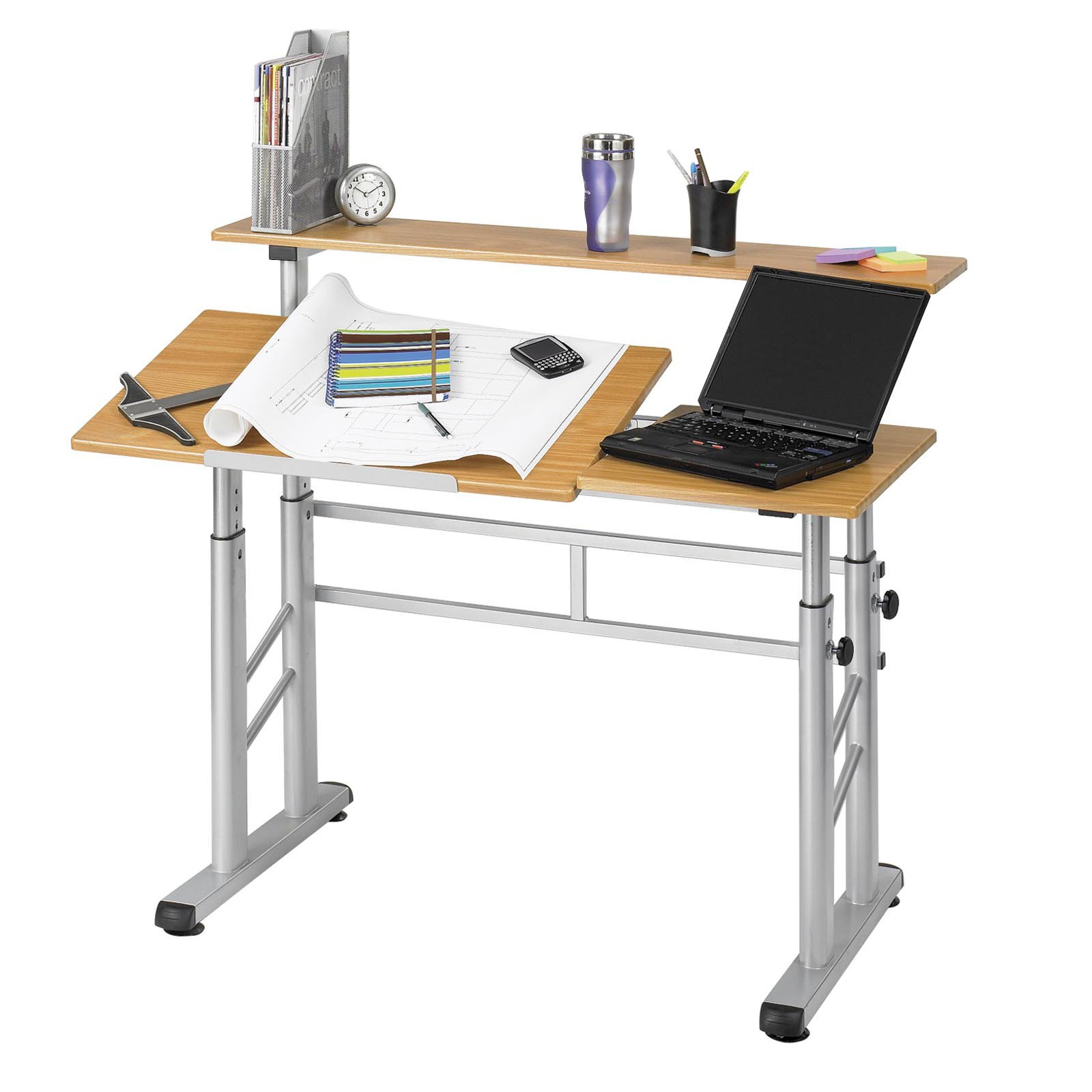 Safco | Safco Muv Stand Up Adjustable Height Workstation | Safco Ergo Comfort Adjustable Footrest